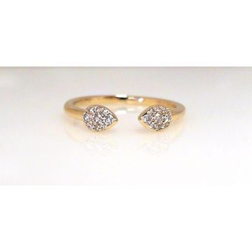 14k Yellow Gold Diamond Fashion Ring (.14ctw)