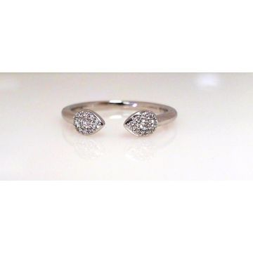 14k White Gold Diamond Fashion Ring (.13ctw)