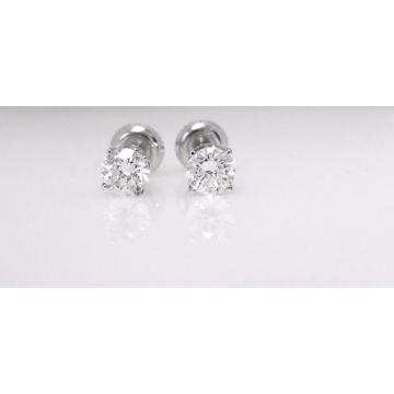 14k White Gold Carat Diamond Studs (1.07ctw)