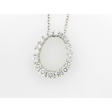 1/2 Carat Oval Diamond Pendant with Chain