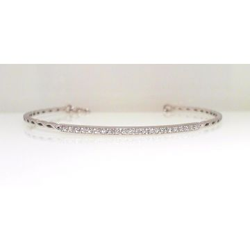 14k White Gold Diamond Bangle Bracelet (.35ctw)