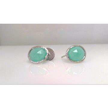 Jorge Revilla 925 Sterling Silver Fashion Gemstone Earrings