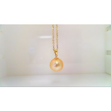 14k Yellow South Sea Pearl Pendant 12mm