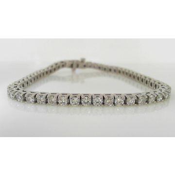 Elegant Platinum Diamond Tennis Bracelet