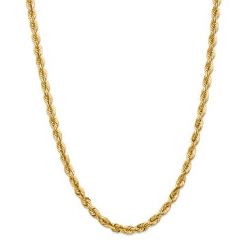 10k 5.5mm Solid Diamond Cut Rope Chain