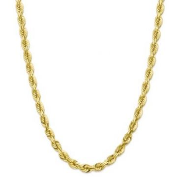10k 7mm Solid Diamond Cut Rope Chain