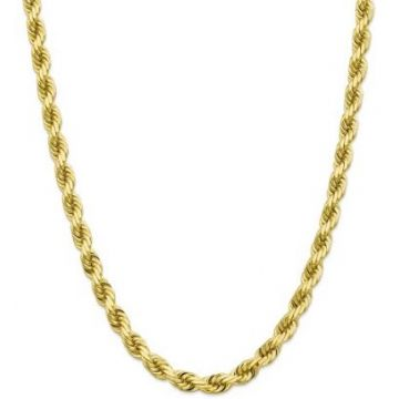 10k 10mm Solid Diamond Cut Rope Chain