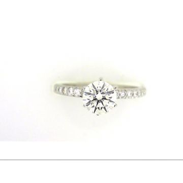 Platinum 1/4 Carat Straight Diamond Engagement Ring Semi-Mount