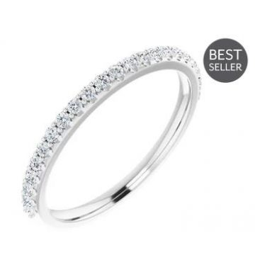 Platinum 1/4 Carat Diamond Wedding Band
