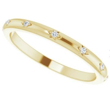 14K Yellow .06 CTW Diamond Eternity Band Size 7