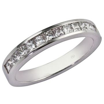 14k White Gottlieb & Sons Channel Set Wedding Ring (.70ctw)