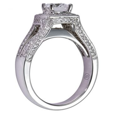 14k White Gold Gottlieb & Sons .75tw Engagement Semi-Mount