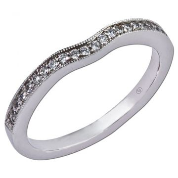 14k White Gold Gottlieb & Sons Wedding Band (.13ctw)