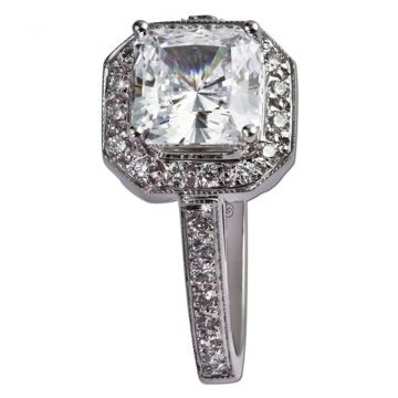 14k White Gold .34CT Diamond Gottlieb & Sons Halo Semi Mount