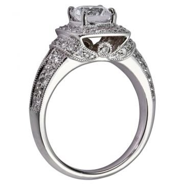 14k White Gold Gottlieb & Sons .62tw Engagement Semi Mount