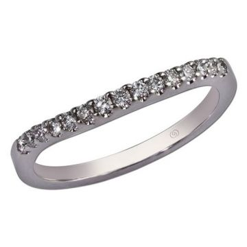 14k White Gold Diamond Wedding Band (0.22ctw)