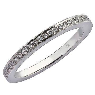 14k White Straight Diamond Ring (0.14ctw)