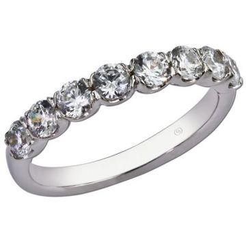 14k White Diamond Wedding Ring (.80ctw)