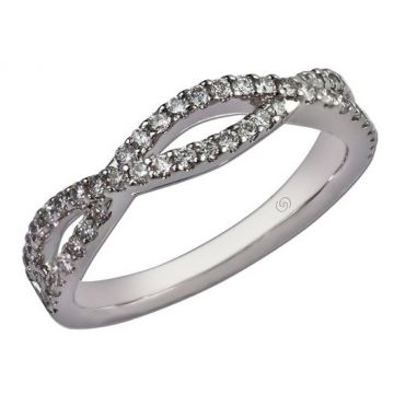 14k White Infinity Twist Gottlieb & Sons Diamond Wedding Ring (.40ctw)