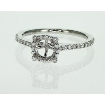 14k White Diamond Halo Engagement Ring (.20TW)