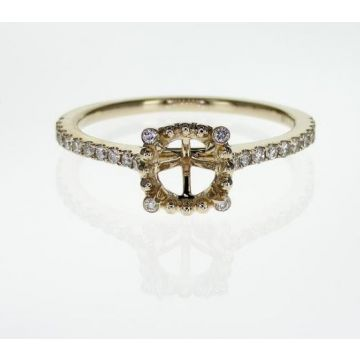 14k Yellow Diamond Halo Engagement Ring (.19TW)