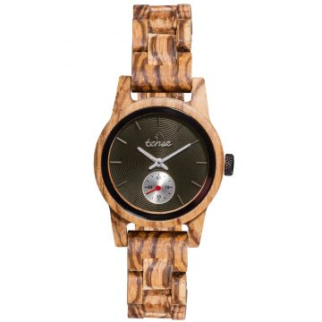 "Ladies Tense Wooden Watch ""Hampton Zebra Wood"""