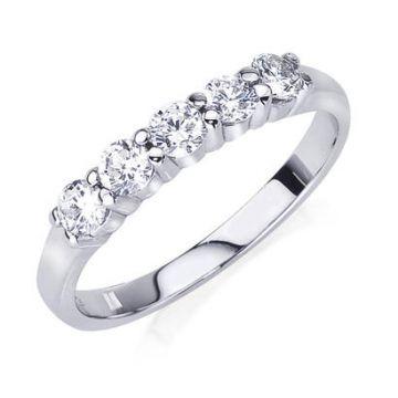14k White Gold Diamond Engagement Band 1/2ct