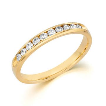 14k Yellow Gold Engagement Band 1/4ct