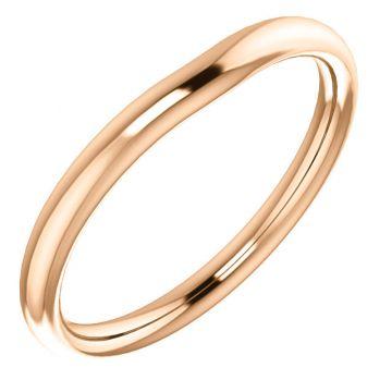 14k Rose Gold Wedding Band