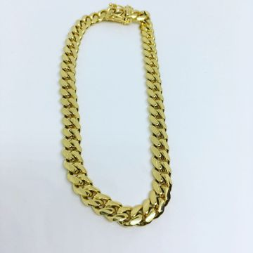 "14k Solid Cuban Bracelet 8.25"" 5.9mm"