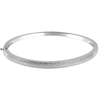 Sieger's Jewelers 14k White Gold Polished Diamond Bracelet