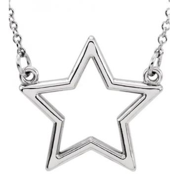 """Sterling Silver Star 16"""" Necklace"""