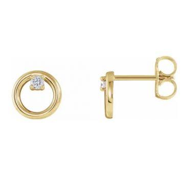 14k Yellow Gold Diamond Fashion Earrings (.06TW)