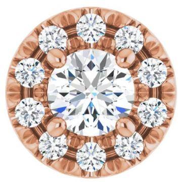 14k Halo Diamond Pendant (.17ctw)
