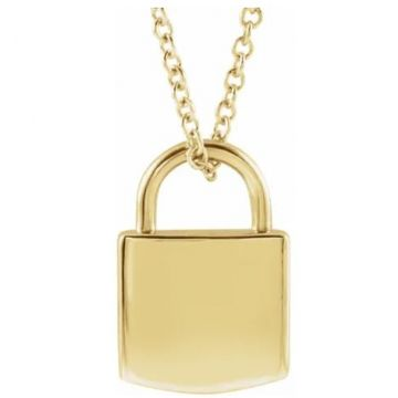 14k Yellow Gold Lock Charm