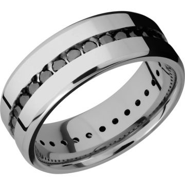 Lashbrook Titanium Diamond 8mm Men's Wedding Band