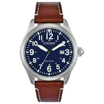 Citizen Eco-Drive Garrison Leather Men's Watch