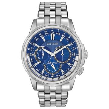 Citizen Eco-Drive Calendrier Stainless Steel Silver-Tone 44mm Men's Watch