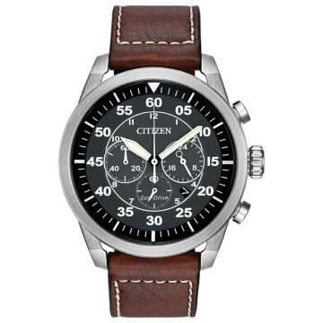 Citizen Eco-Drive Avion Leather Men's Watch