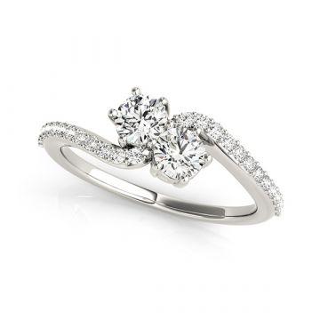14k White Diamond Fashion Ring (.50ctw)