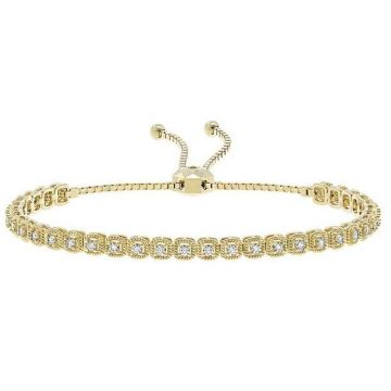 14k Yellow Gold Diamond Bolo Bracelet (.71ctw)