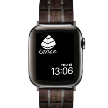 Tense Apple Watch Band Leadwood/Black 42-44mm
