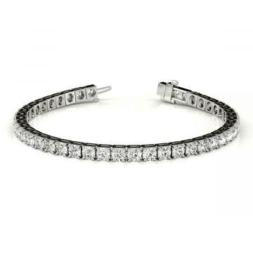 14k White 4.71 Carat Diamond Tennis Bracelet