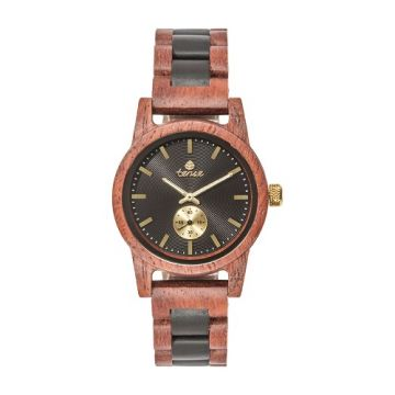 GentsHampton Kerri/Black Oak Tense Wooden Watch