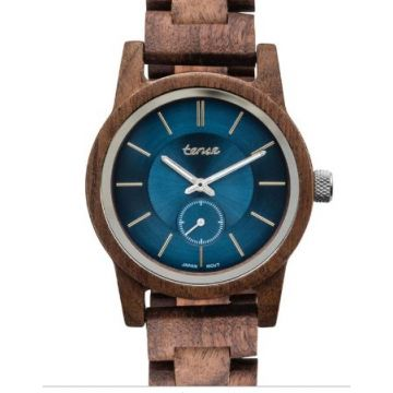Hampton II Walnut/Blue Tense Watch
