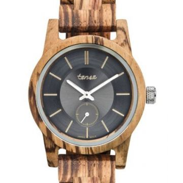 Hampton II Zebrawood Tense Watch