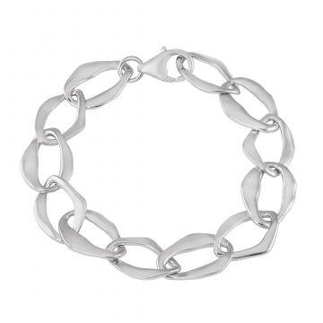 "Jorge Revilla 7"" Together Bracelet 925 Rhodium Finish"