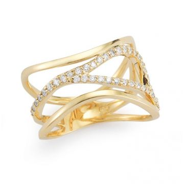 Barbela Diamond Finn Ring