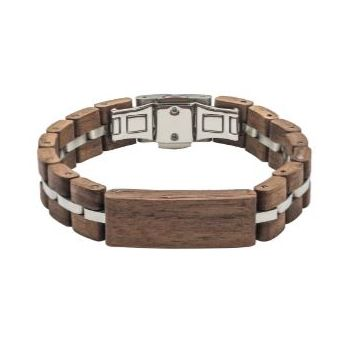 Tense Wood Bracelet Walnut/Silver