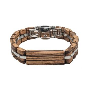 Tense Wood Bracelet Zebrawood/Silver